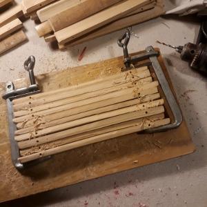 Esempio di sottopiatto realizzato in canne di bambu 39 splittate for Vendita piante bambu gigante